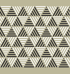 Triangle geometry backdrop with stripes vector