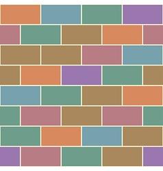 Colorful Vintage Red Orange Green Brick Wall vector image