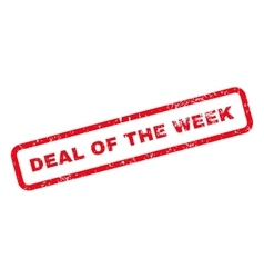 Deal of the week text rubber stamp vector