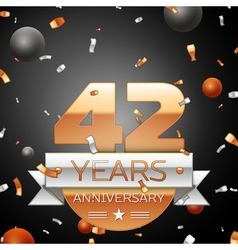 Forty two years anniversary celebration background vector