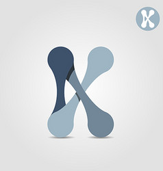 K letter logo template chains and connections vector