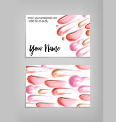 Makeup artist business card template vector