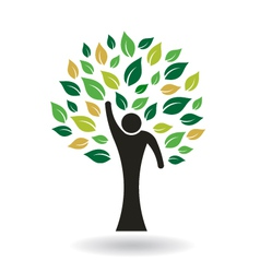 Hi 5 people tree logo vector