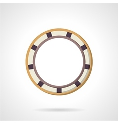 Flat color bearing icon vector