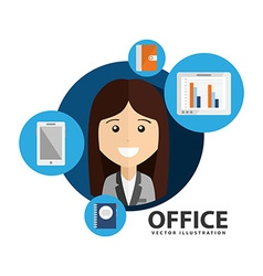 Office concept design vector