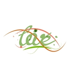 Love lettering word vector