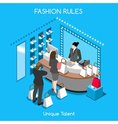 Fashion moods 07 people isometric vector