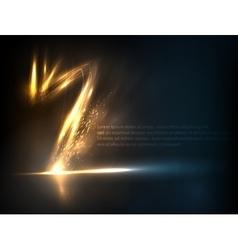 Lightning strike effect background vector image