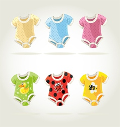 Babies clothes vector
