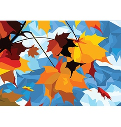 Autumn leaves maple vector