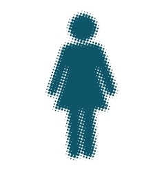 Woman icon blue blurred silhouette vector