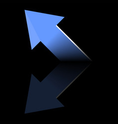 Arrow blue symbols on a black backgroundbusiness vector