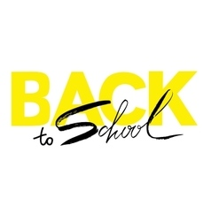 Back to school calligraphic text designs vector image