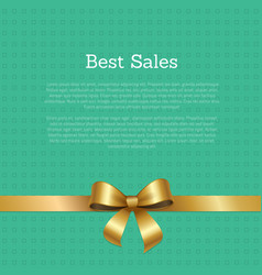 best big sale certificate card design ribbon vector image