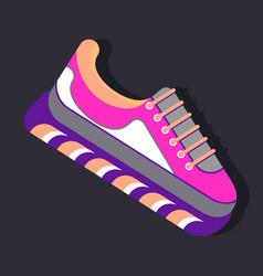 bright sneaker icon vector image