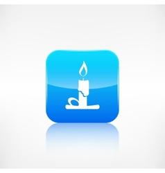Candle web icon application button vector