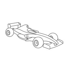 Car racingextreme sport single icon in outline vector