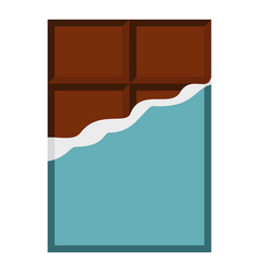 chocolate bar icon isolated vector image