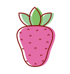 Delicious strawberry fruit to healthy life vector