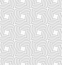Dotted wavy squares vector image vector image