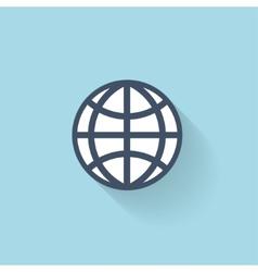 Flat web icon global network vector