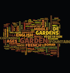 French and english gardens of the middle ages vector