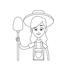 happy farmer icon image vector image vector image