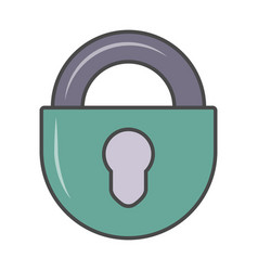 Key padlock isolated pictogram vector