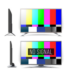 No signal tv test pattern lcd monitor vector