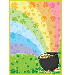 patricks card vector image