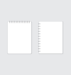 Realistic template notepad with spiral blank vector