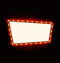 Retro showtime sign design neon lamps billboard vector