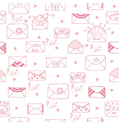 Romantic seamless pattern cute background vector
