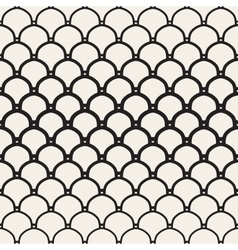 Seamless black and white overlapping vector