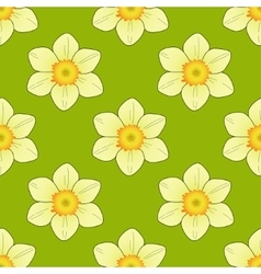Seamless pattern with narcissus image vector