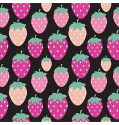 Simple strawberry seamless pattern background vector