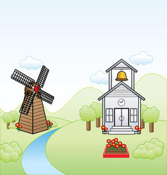 Simple town vector image vector image