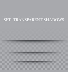 transparent paper with realistic shadow effect is vector image vector image