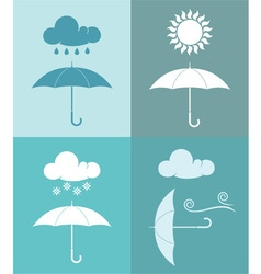 Umbrella Weather Icon vector image