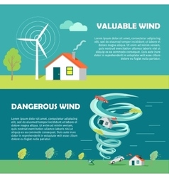 Valuable dangerous wind banners strength levels vector
