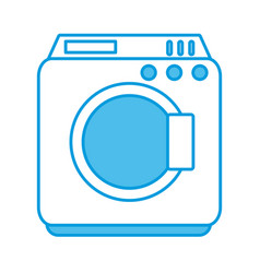 washer machine symbol vector image vector image