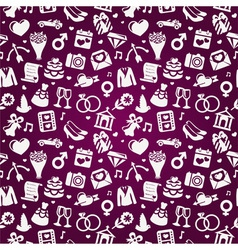 Wedding seamless pattern vector