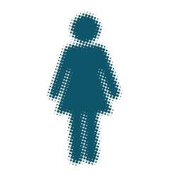 Woman icon blue blurred silhouette vector