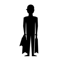 Young man with shopping bags vector