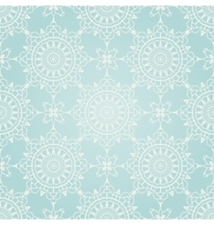 Seamless winter ornament vector image