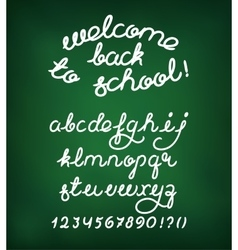 Welcome back to school handwritten alphabet vector