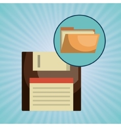 file folder floppy icon vector image