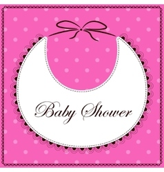 Baby shower with bib pink vector image