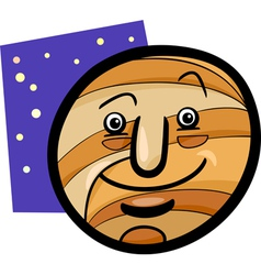 Funny jupiter planet cartoon vector