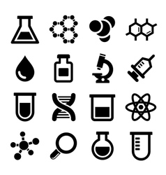 Chemical icons set vector